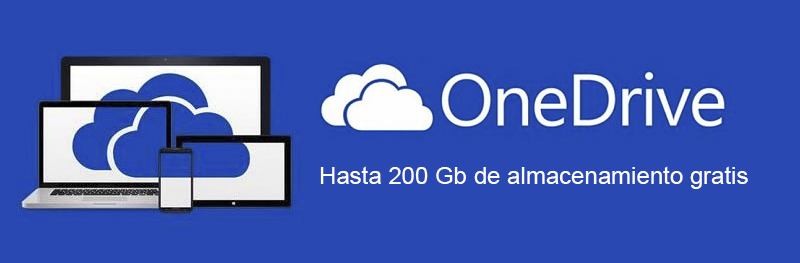 OneDrive regala 200 GB de almacenamiento en la nube