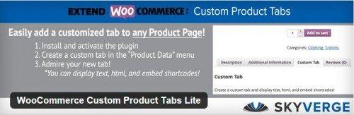 WooCommerce Custom Product Tabs Lite usabilidad plugin gratuito
