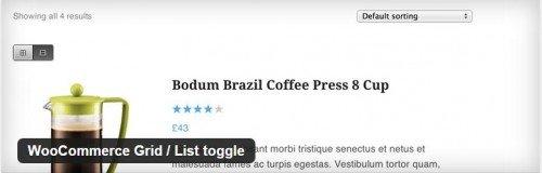 WooCommerce Grid List toggle usabilidad plugin gratuito
