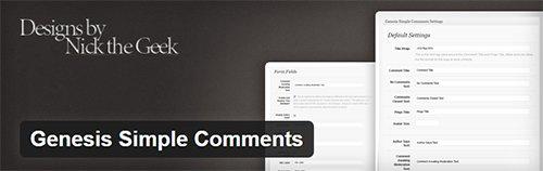 plugin genesis simple comments
