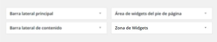 zonas de widgets wordpress