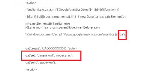 llamada a la función de Google Analytics del post SemRush