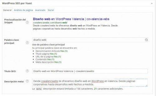 optimizacion SEO on page-SEObyYOAST cowalenciawebs