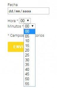 reserva formulario horas contact form wordpress 02