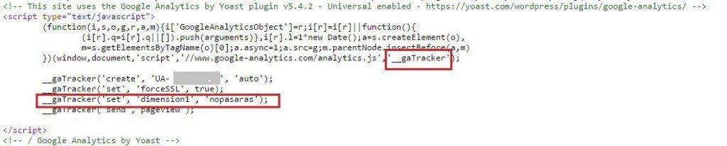 Script Google Analytics para evitar el referer spam