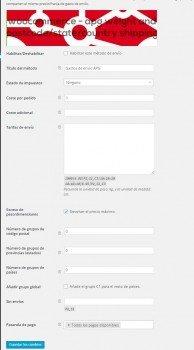 Plugin APG configuración gastos de envío Woocommerce