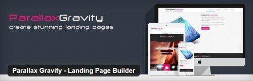 parallaxgravity landing page builder woocommerce