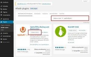 Plugin UpdraftPlus Configuración paso a paso 02