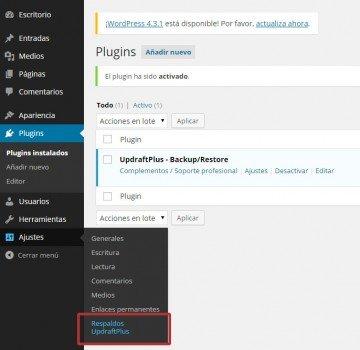 Configuración de copias de seguridad en WordPress 03