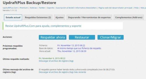 Configuración de copias de seguridad en WordPress 04