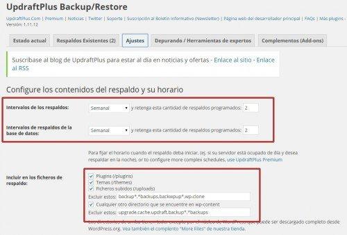 Configuración de copias de seguridad en WordPress 05