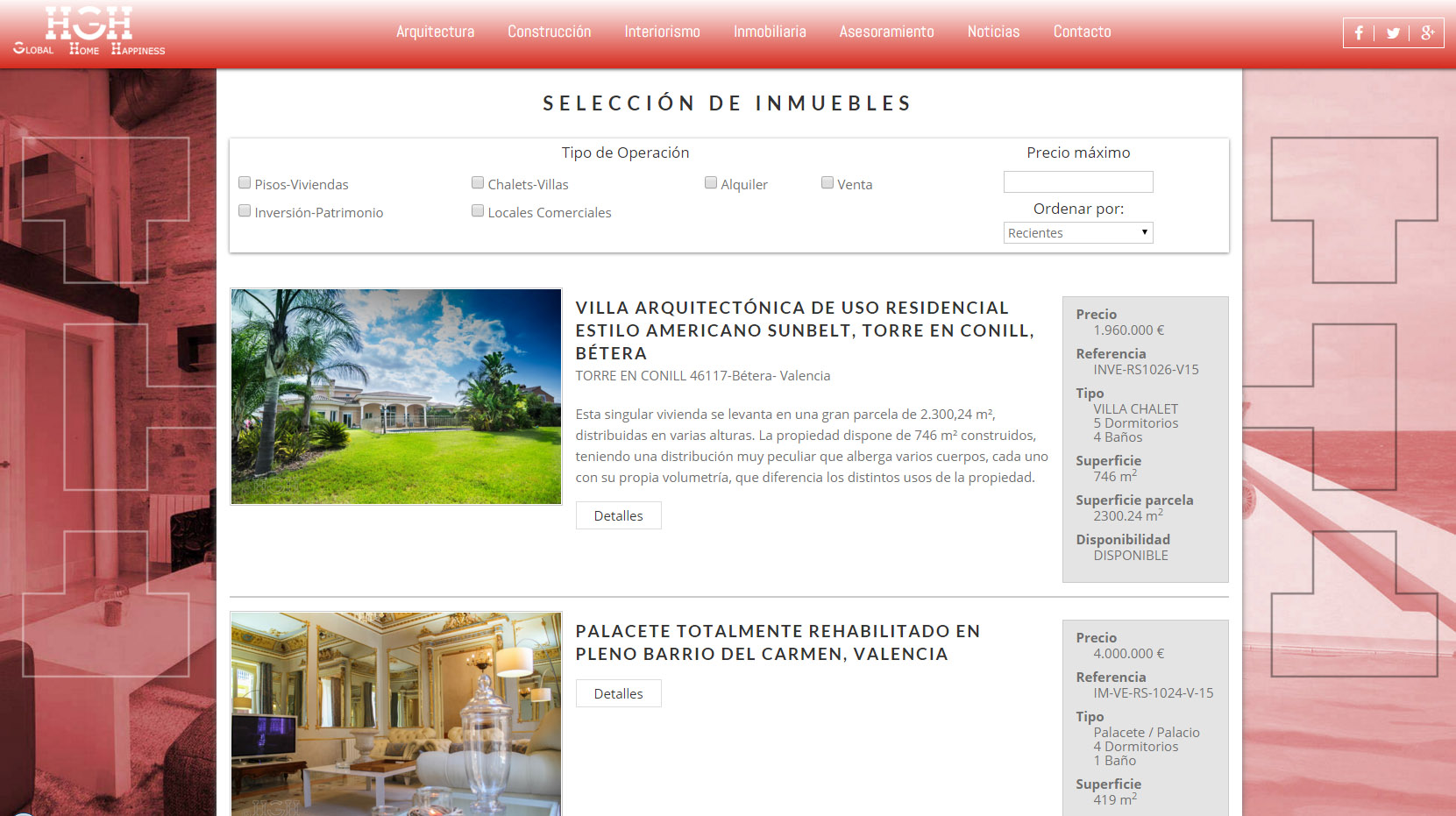 global home happiness inmuebles