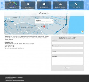 atribal pagina contacto wordpress valencia