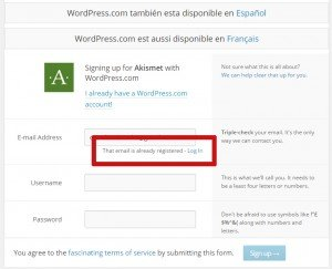 plugin akismet wordpress login