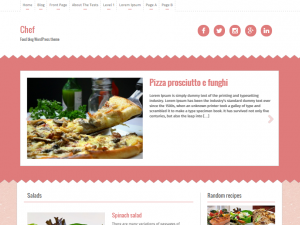 plantilla wordpress chef