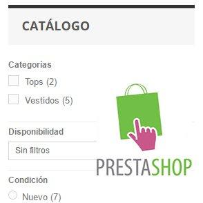 Configurar la navegación por facetas de Prestashop