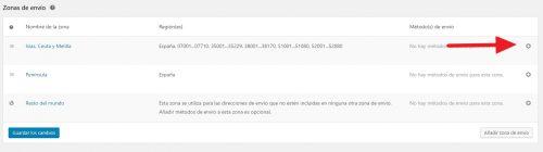 Añadir métodos de envío en la configuración de los gastos de envío en Woocommerce 3.0