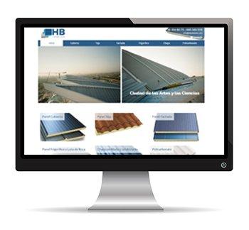 HB Paneles Web corporativa con catálogo WordPress