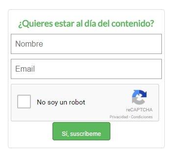 Añadir un CAPTCHA en la suscripción de MailRelay con Contact Form 7