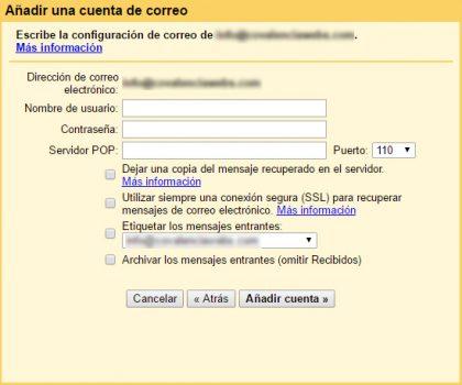 liberar espacio hosting configurar cuentas correo gmail 05