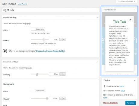 Crear popups en WordPress con Popup Maker editar temas