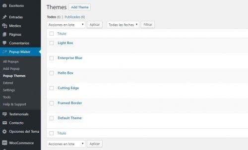Crear popups en WordPress con Popup Maker temas