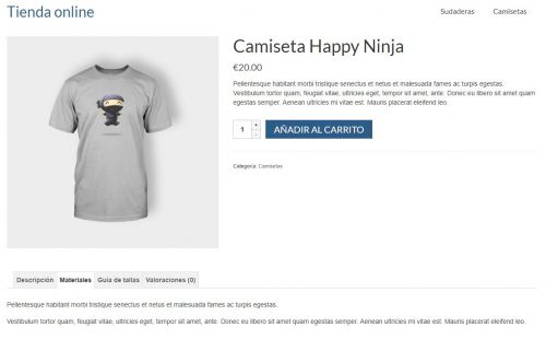 ficha producto con pestañas woocommerce product tabs